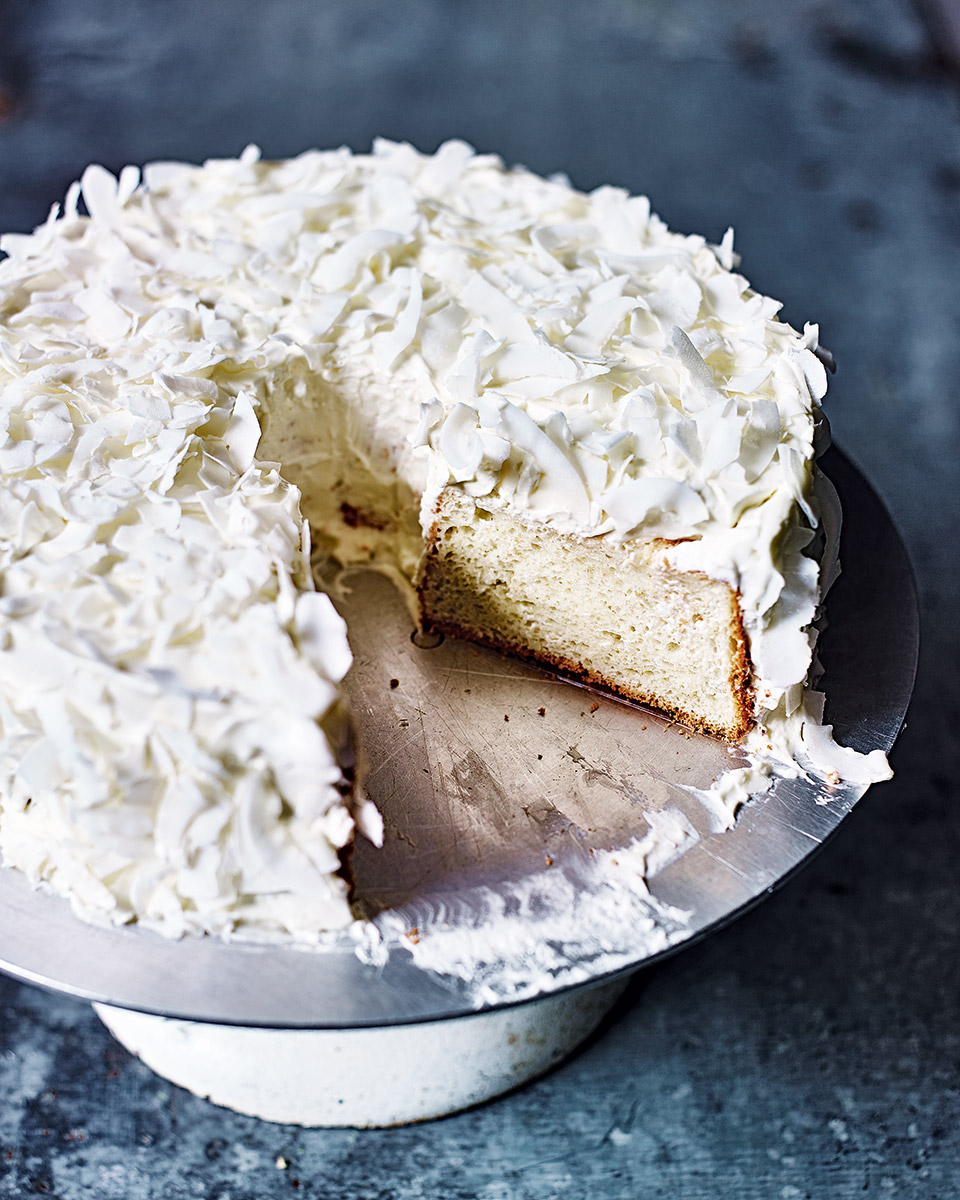 Coconut and lime angel cake