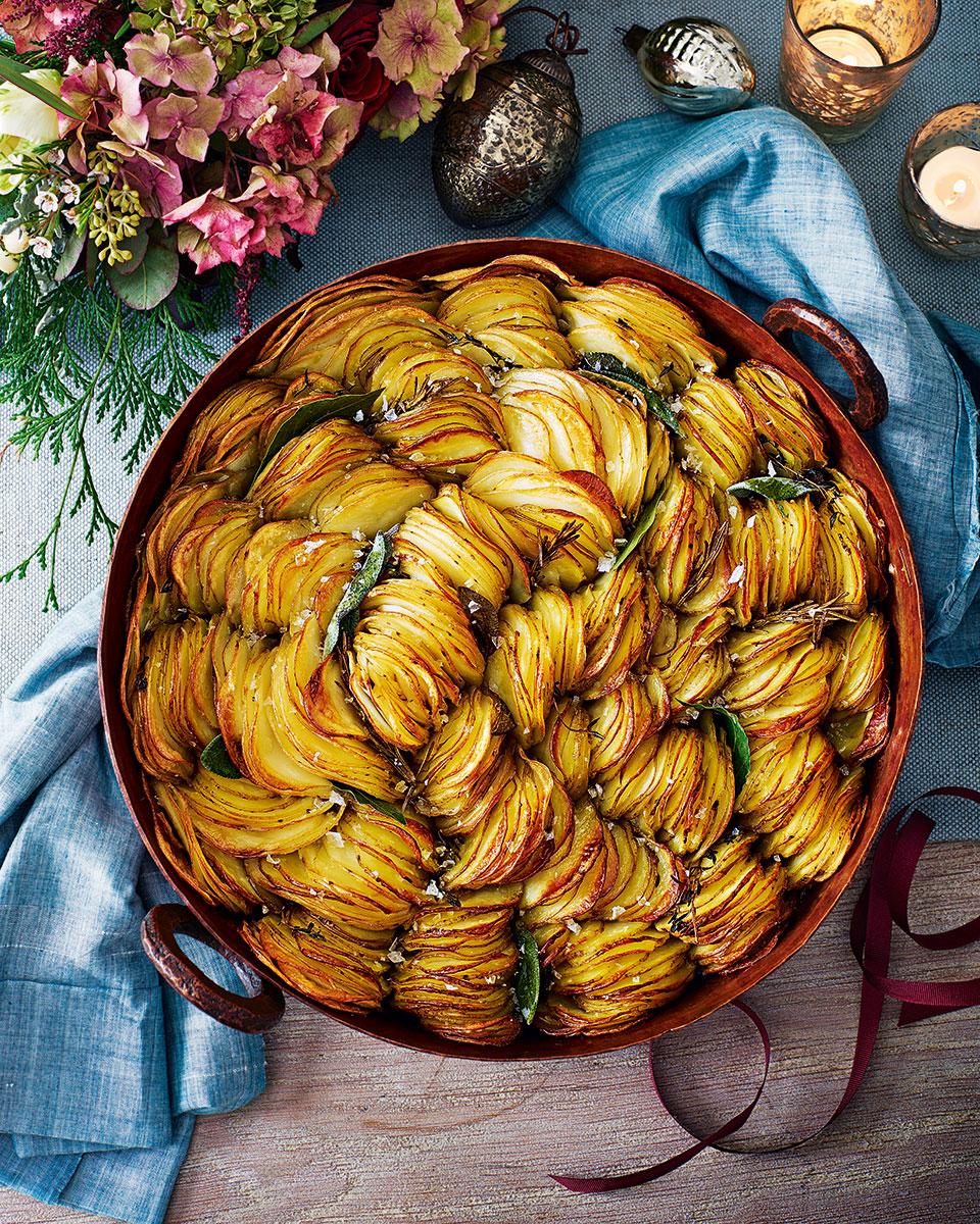 Crispy pan potatoes