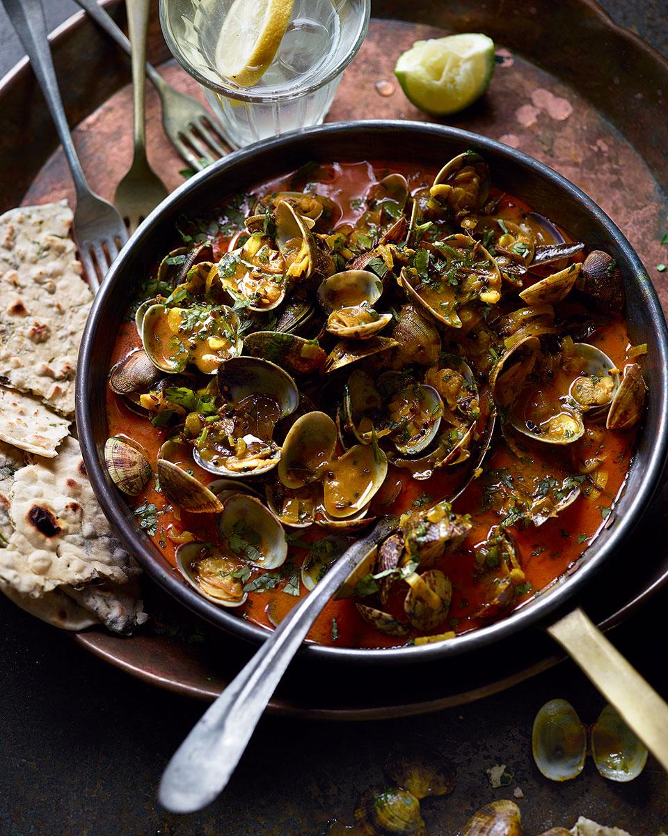 Keralan curried clams