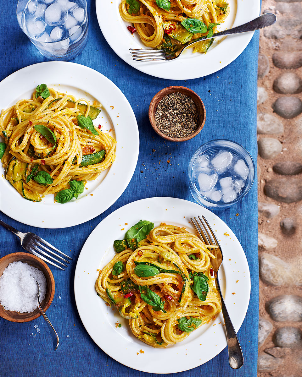 Pasta with courgettes and bottarga