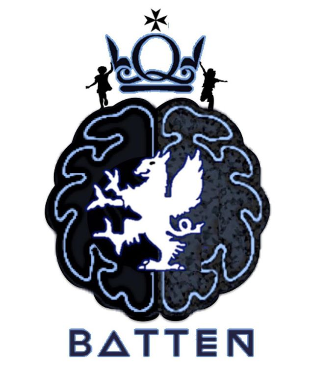 We are now introducing our new house system. House names are Batten, Anderson, Marsden and Kumar named after important people associated with Barts. Each student has been assigned a house and logos have been designed. Starting here is the Batten house logo. Named after Frederick Batten, father of paediatric neurology and pathologist at Hospital for Sick Children, first describing Batten disease in 1903.