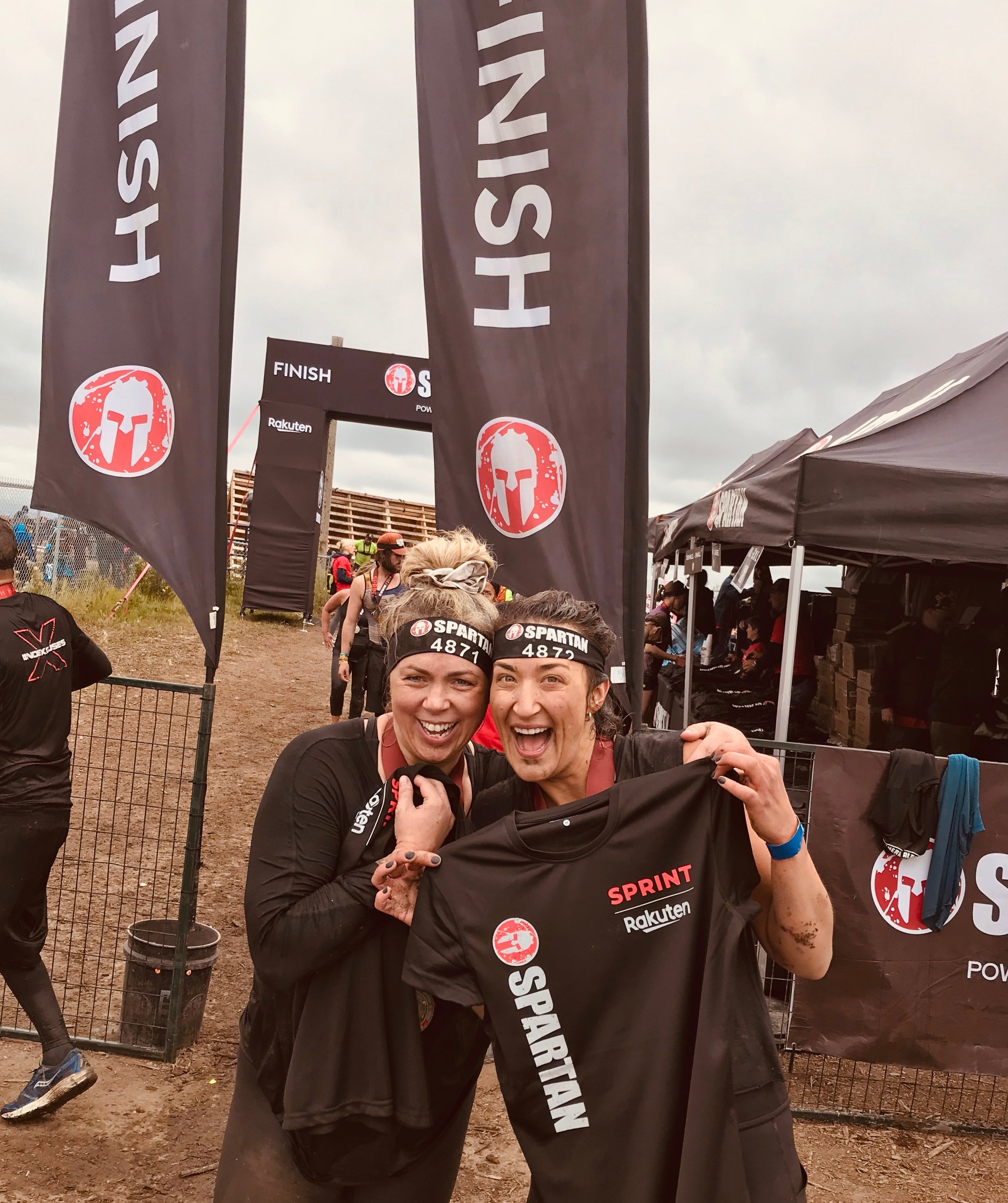 Lisa and Coach Krista - Spartan Race 2019