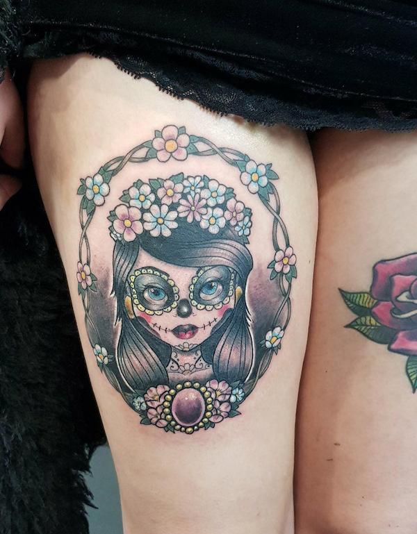 Chloe sugar skull close up.png
