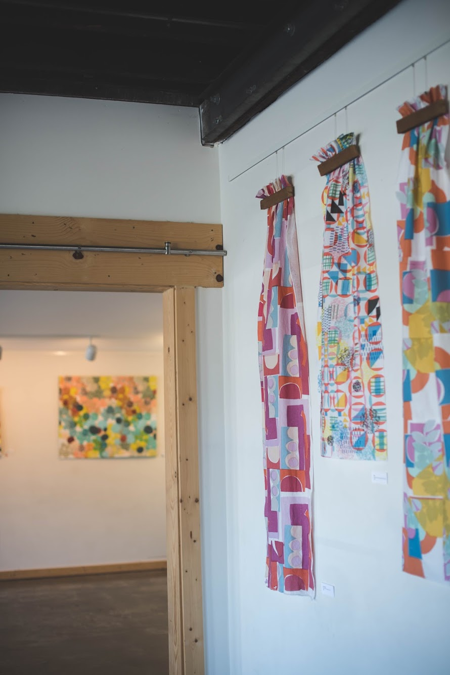 MNE Textiles Screen-printed collages