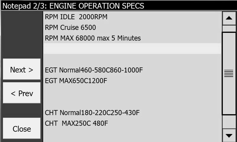 Engine Spec Page
