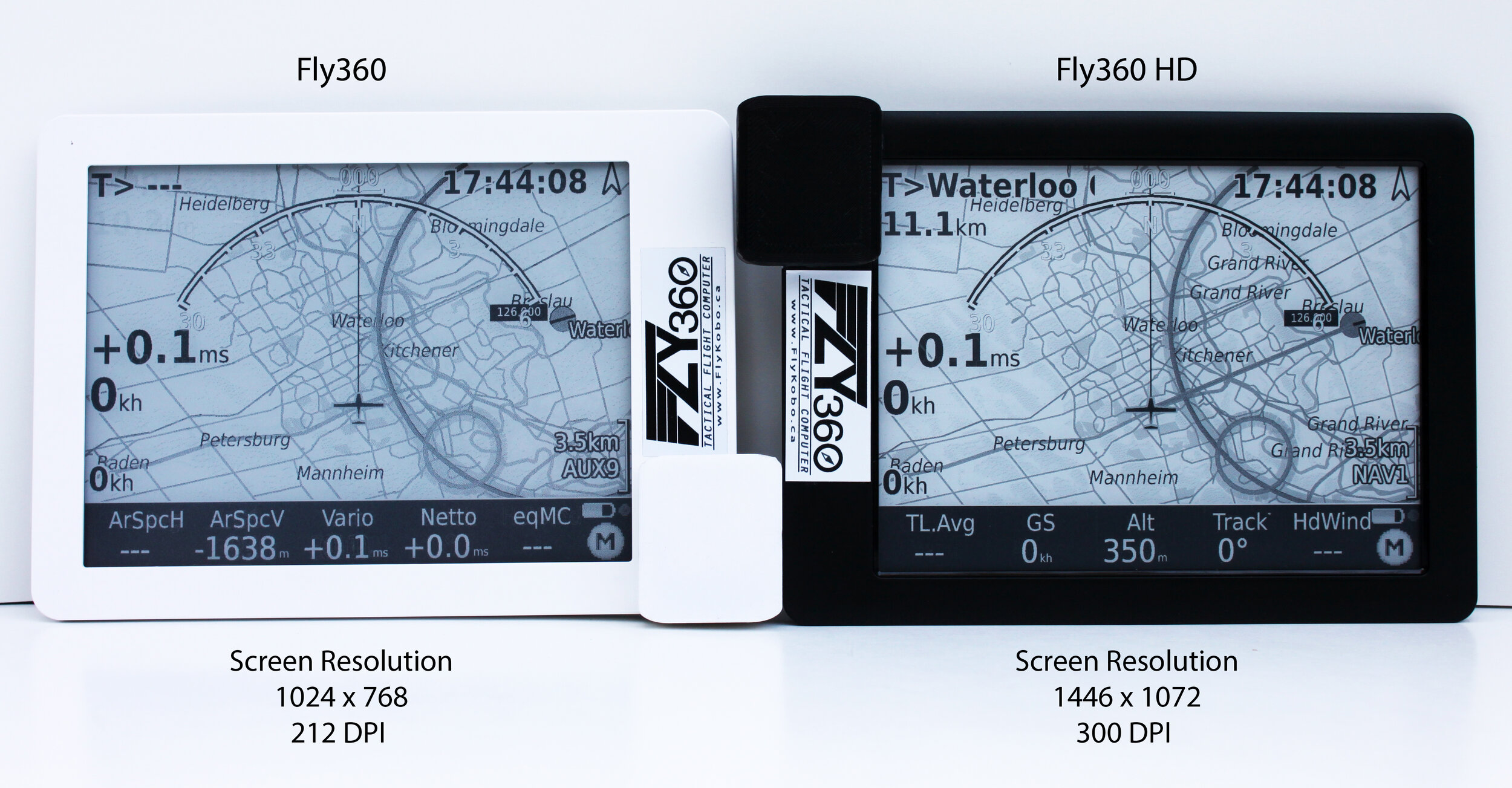 Side by side comparison between the Fly360 (Left) and the New Fly360 HD (Right)