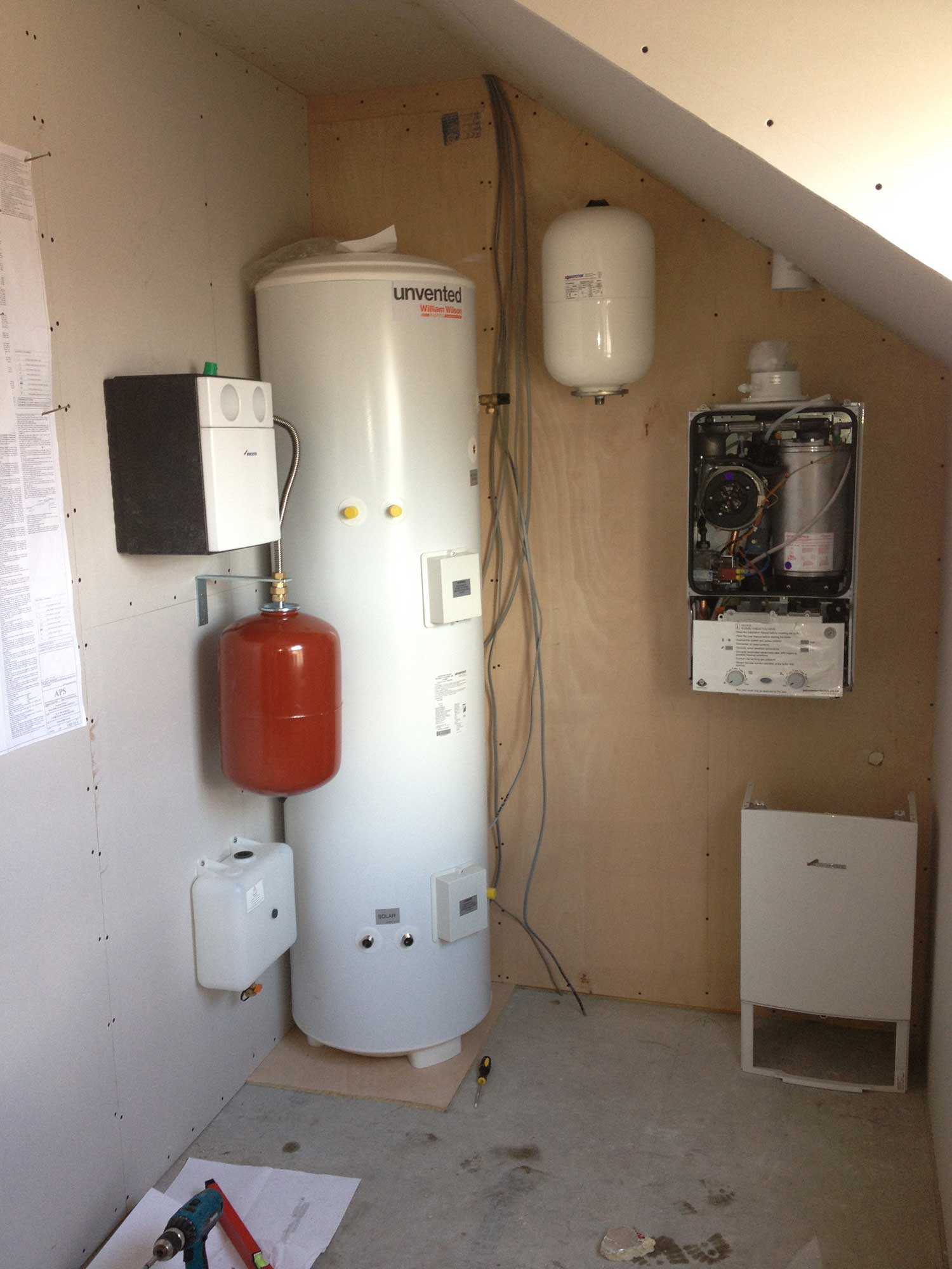 Boiler system and thermal store