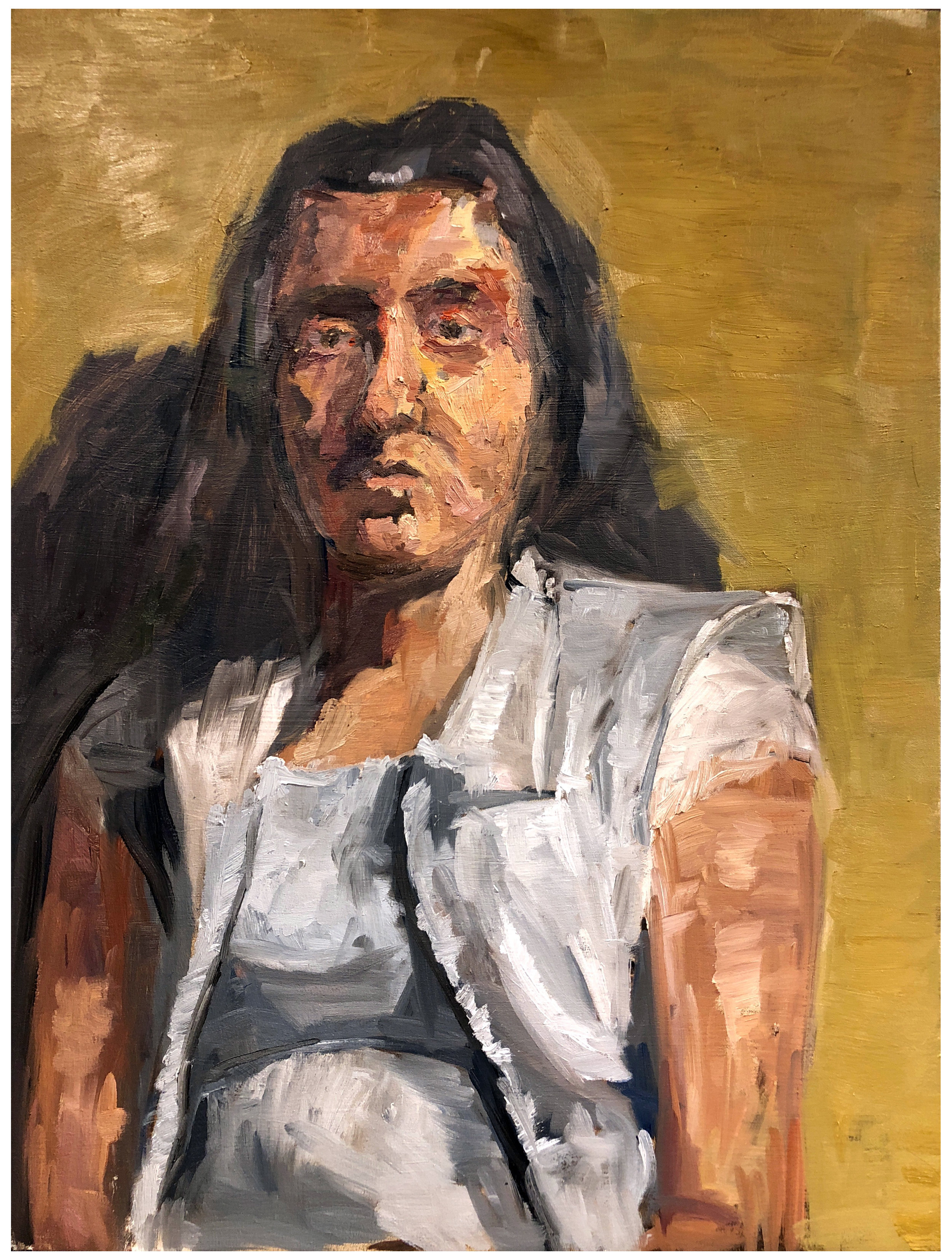 "Stefanie  oil on canvas  30"" x 40""  Jamaal Clarke"
