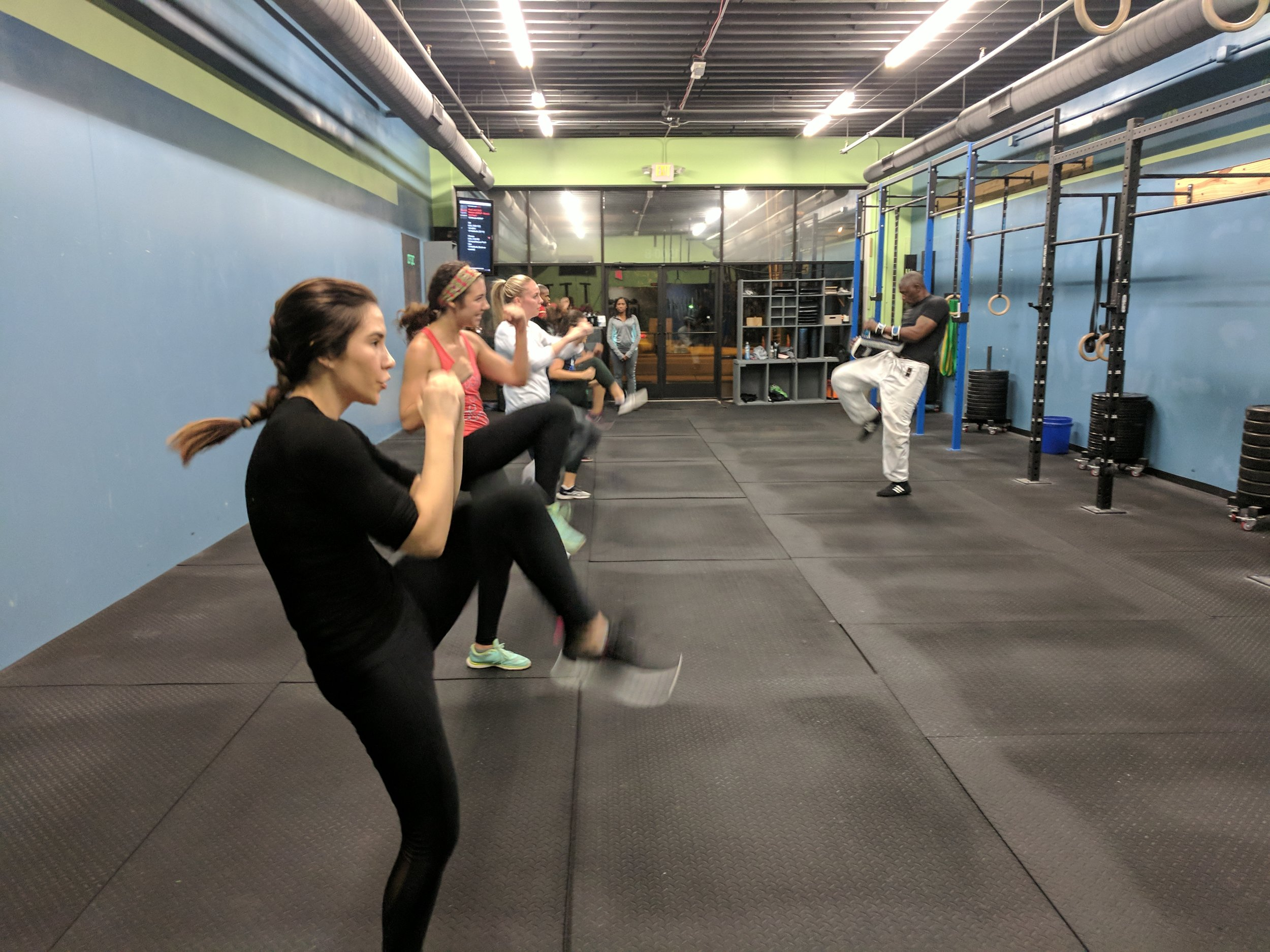 SELF DEFENSE - Learn both the physical and mental aspects of defense that you need to protect yourself in an attack. Attendees should expect to get a great workout, gain familiarity with common attack situations, and learn different techniques for defending yourself.
