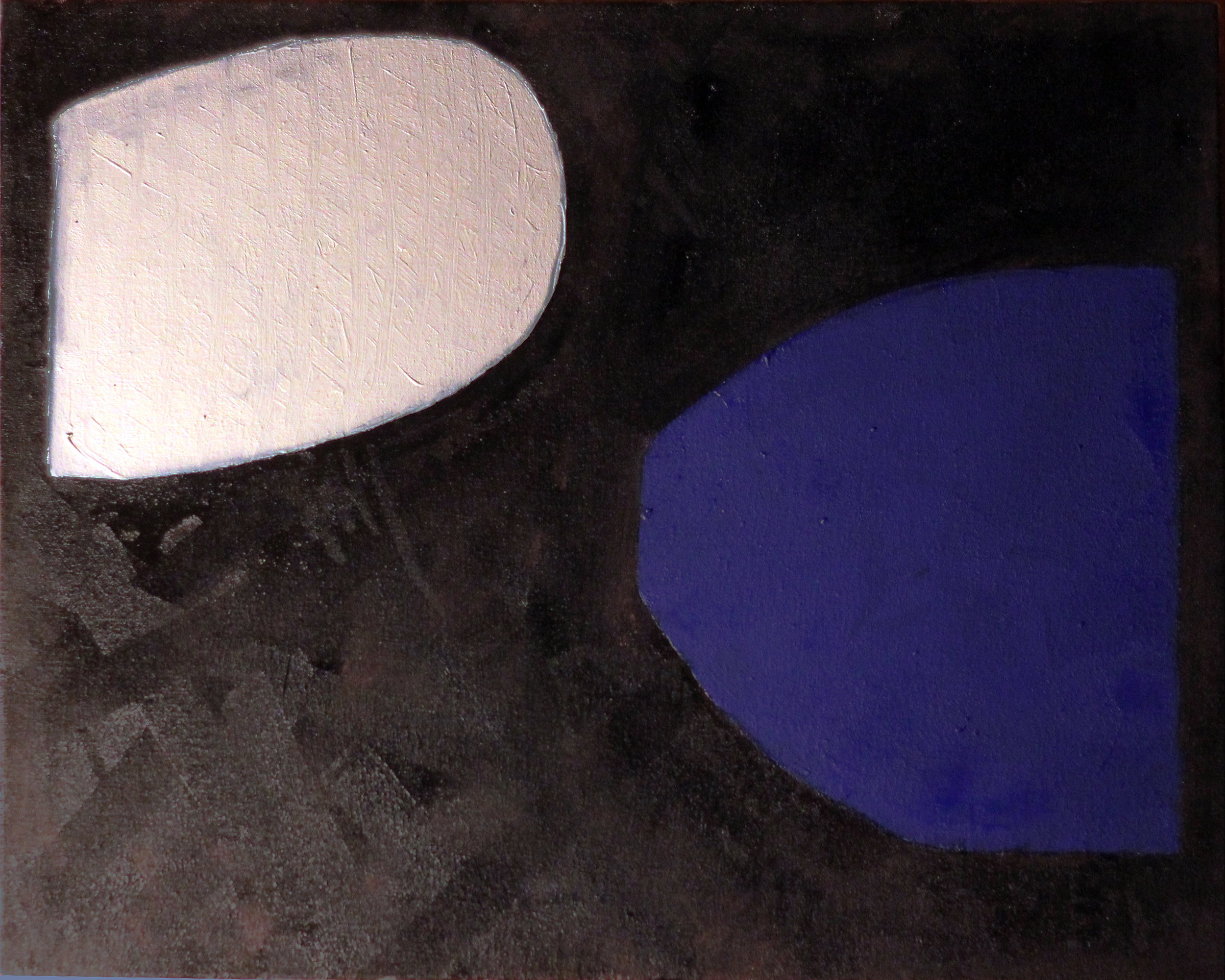 Void Shapes by Robert Ive (2018, oil on canvas)