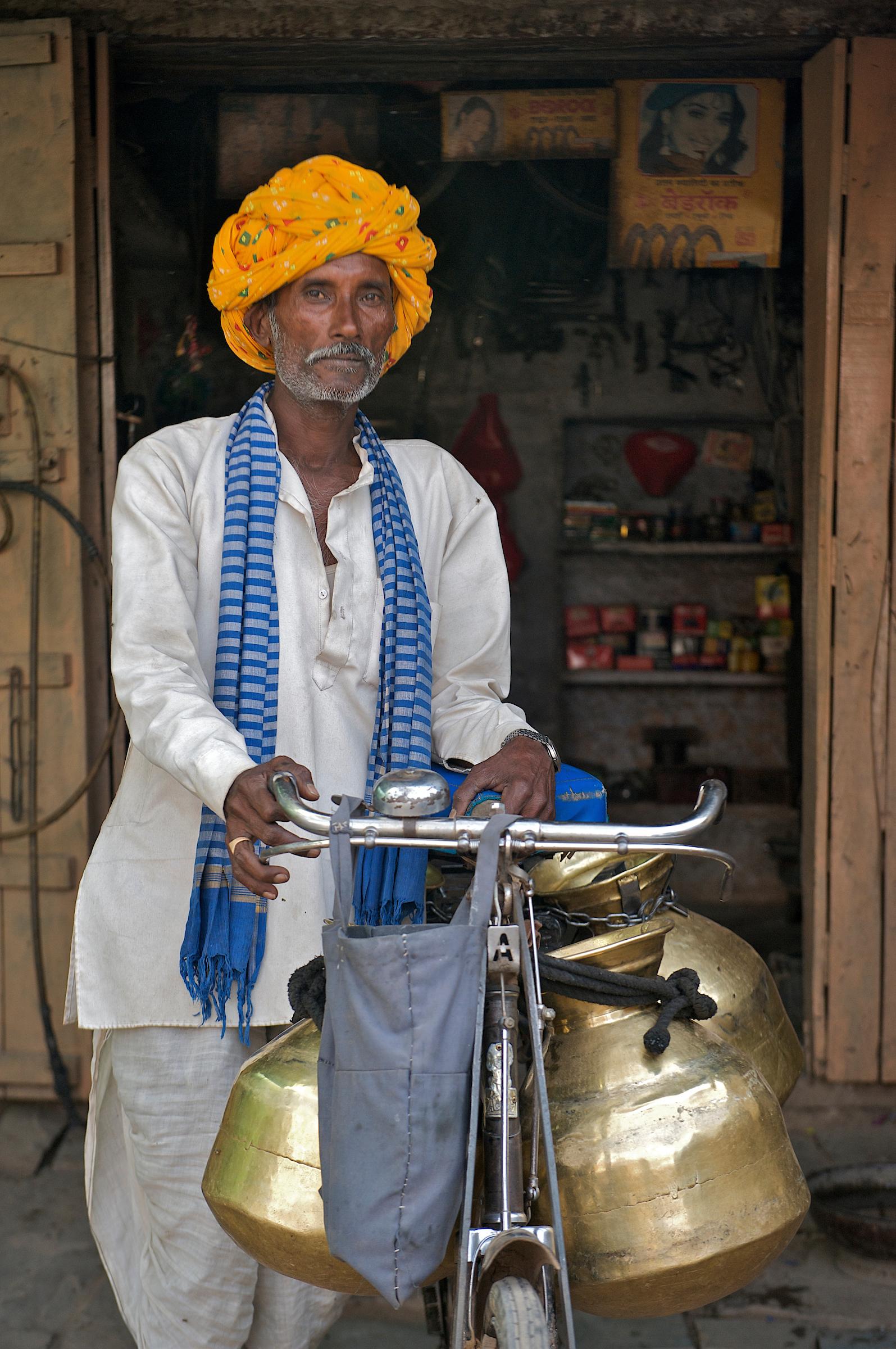 Rural Milkman - Jait Sagar, India