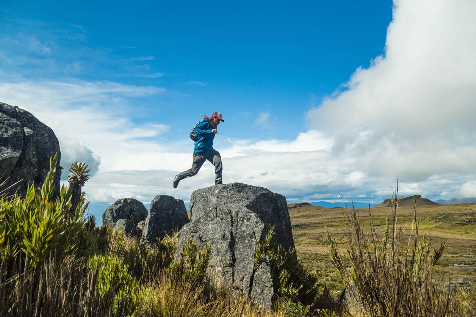 Nomadic journalist,  Scott Yorko , hops across Colombia's Paramo de Ocetá—a high altitude more in the central Andes.
