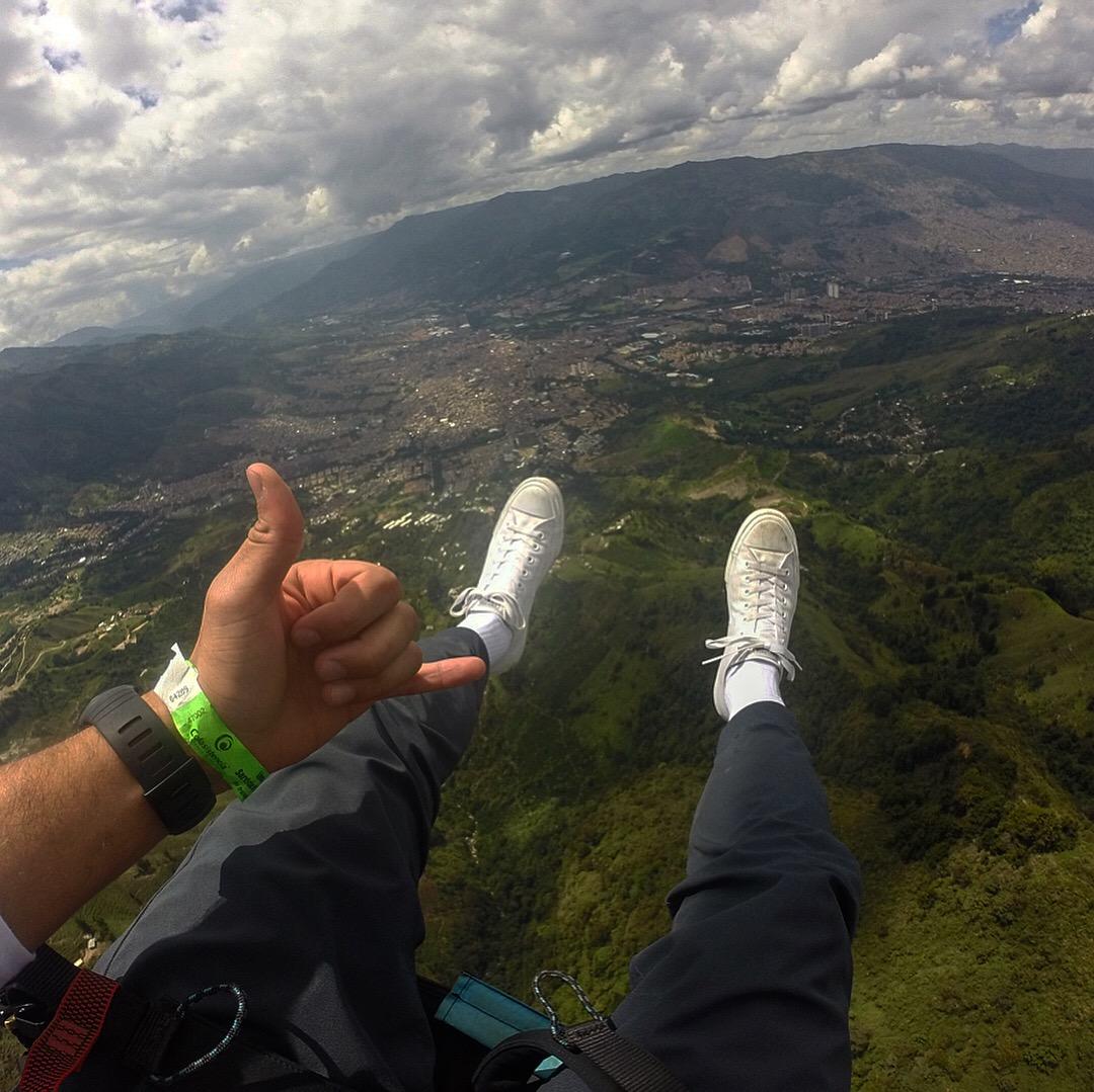 Feet Dangling Over Medellin.