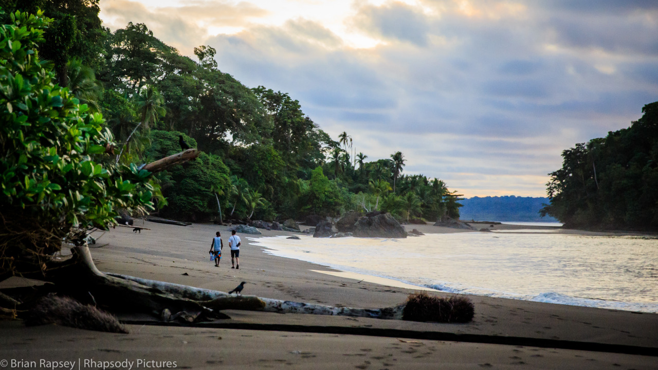 Filming on long stretches of empty beaches in Chocó Department, Colombia