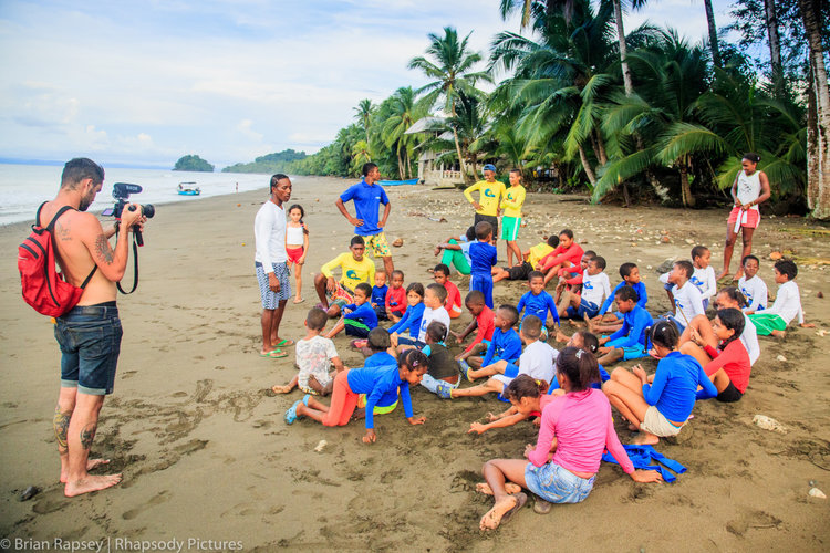 Surf camp at Termales Beach, Colombia