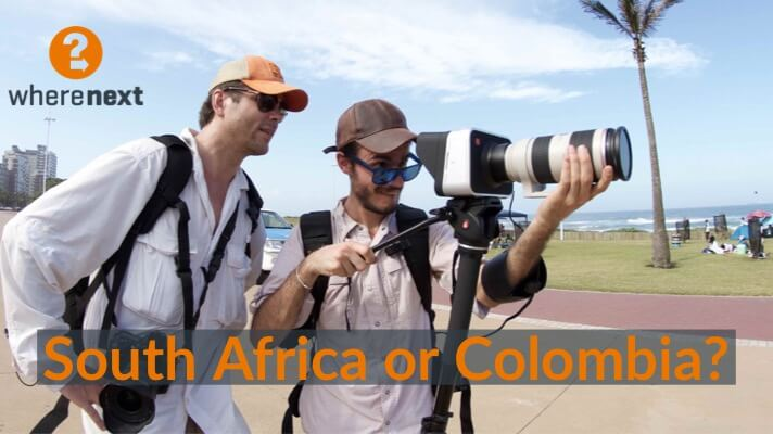 Team WhereNext shooting in Durban, South Africa