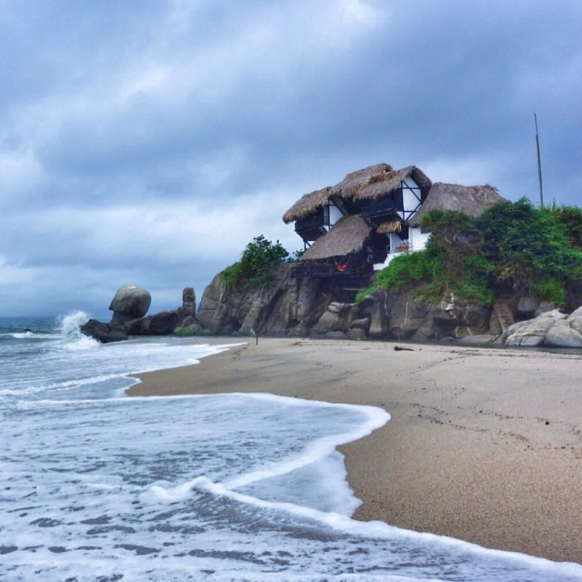 Colombia's Caribbean Coast at the base of the Sierra Nevada de Santa Marta