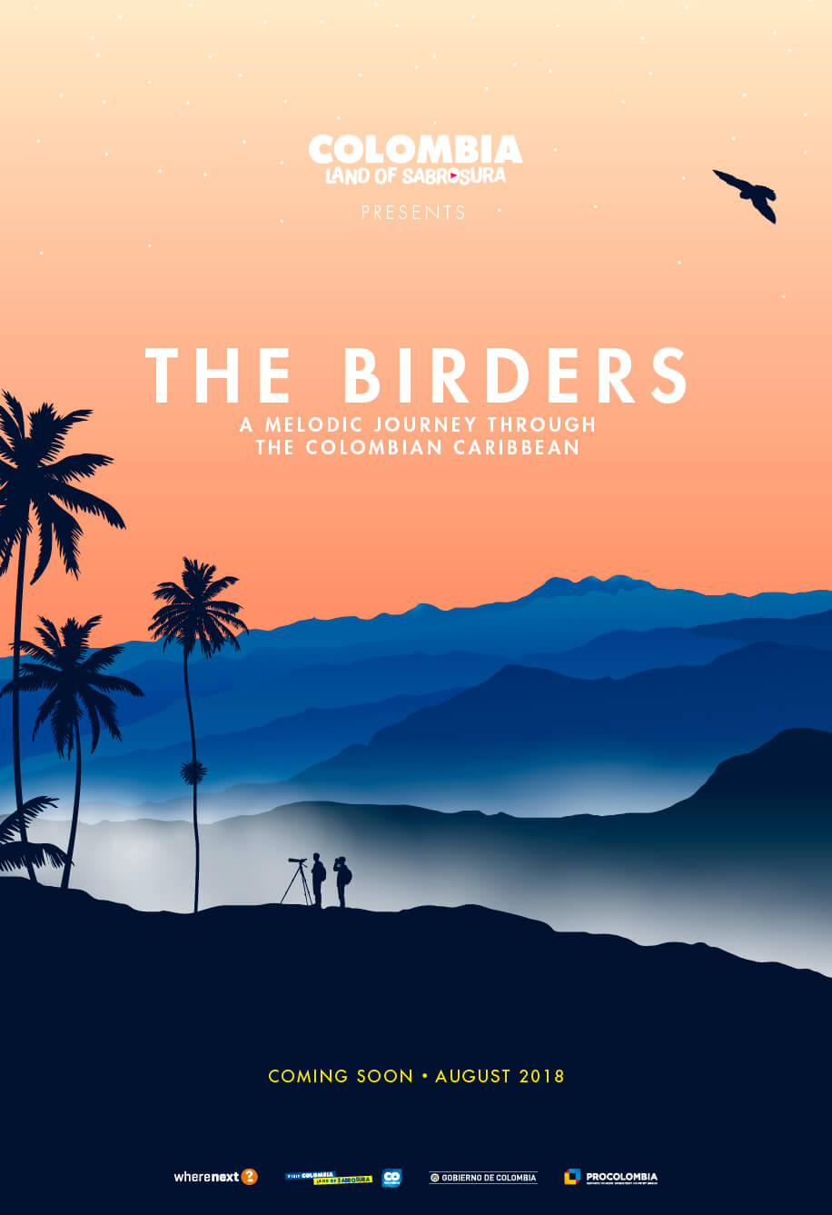 The Birders, FIlming in Colombia