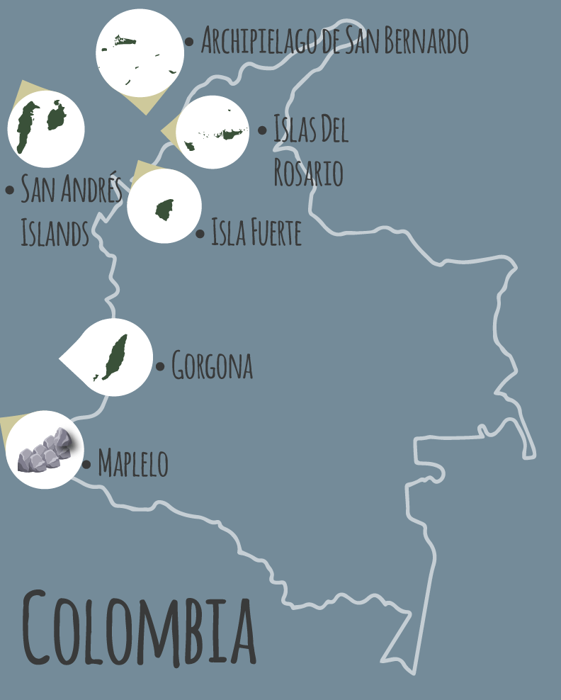 Top six island film locations in Colombia