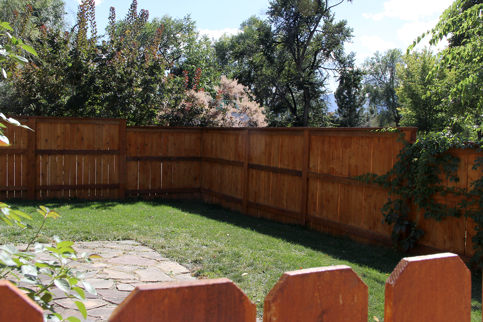 Customized Cedar Fencing for Backyard in Colorado Springs