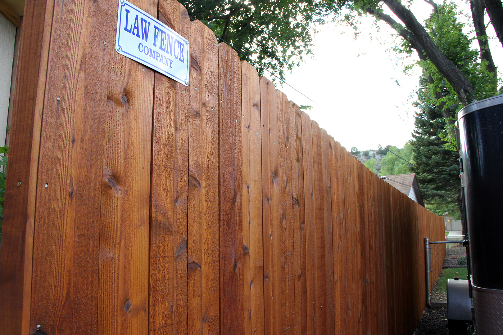 Law Fence Custom Cedar Fence in Colorado Springs