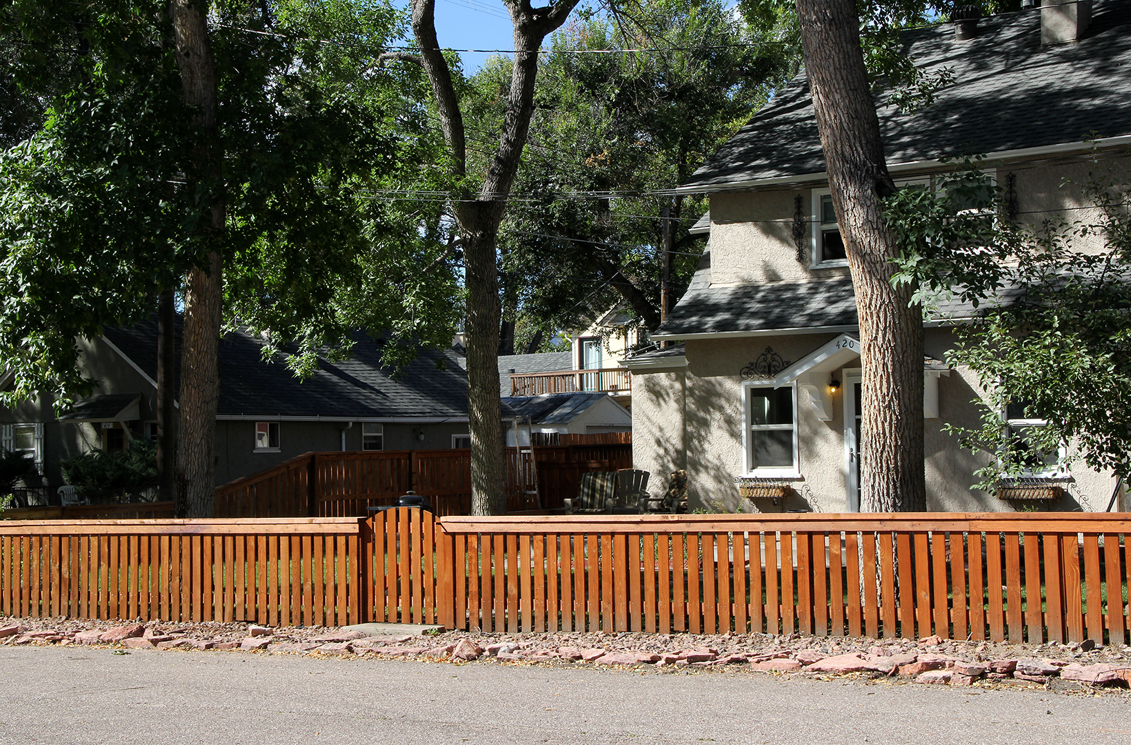 Custom Cedar Fence for Front Yard in Colorado Springs