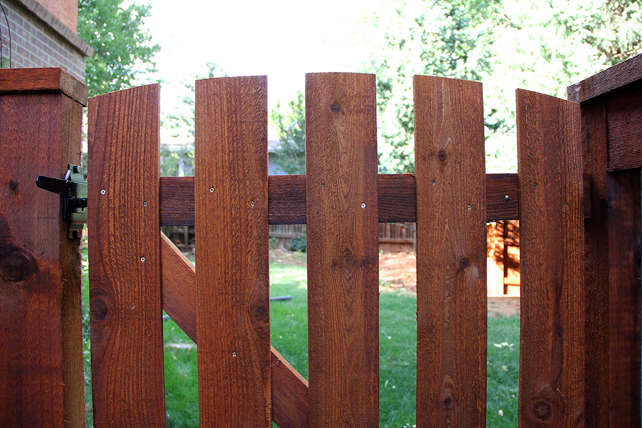 Cedar Fence and Custom Gate in Colorado Springs