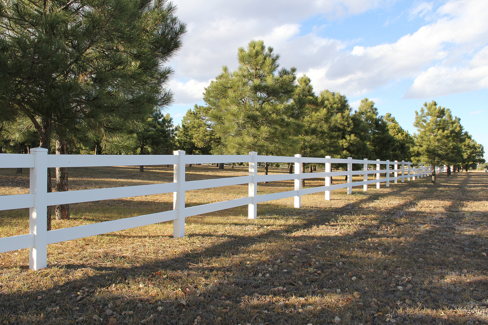 Vinyl Custom Fence in Colorado Springs
