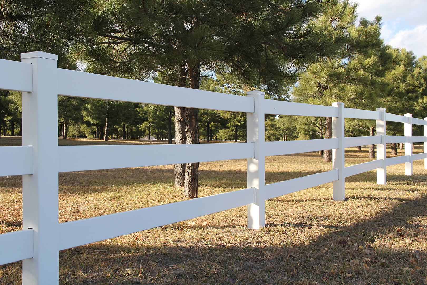 Customized Vinyl Fence in Colorado Springs