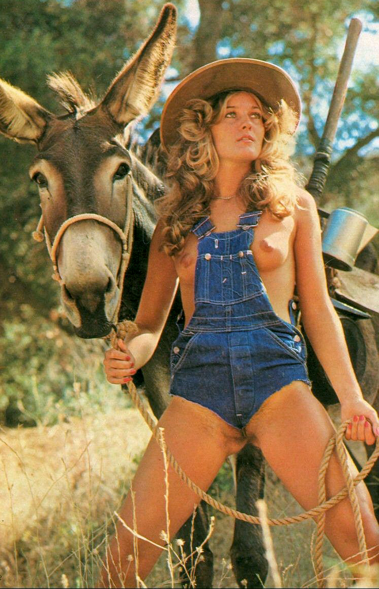 girl-in-overalls-with-donkey