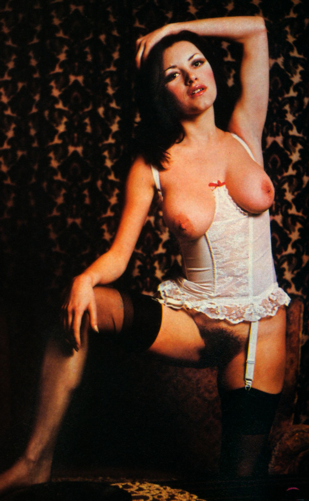 Hairy girl in vintage stockings and bustier, New QT magazine vol01.jpg