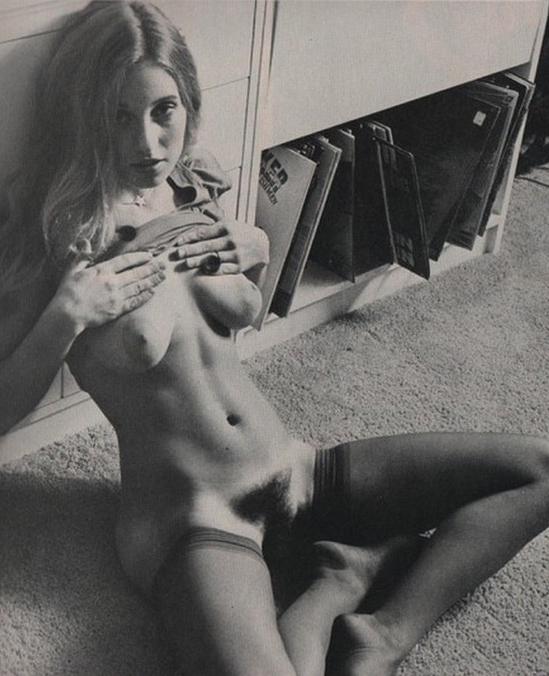 vintage photograph of amateur hairy teen with vinyl.jpg