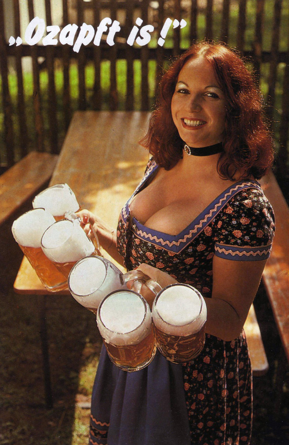 Barmaid in Dirndl Dress at Oktoberfest Pleasure Magazine No. 42 0003 The Keg Is Tapped.jpg