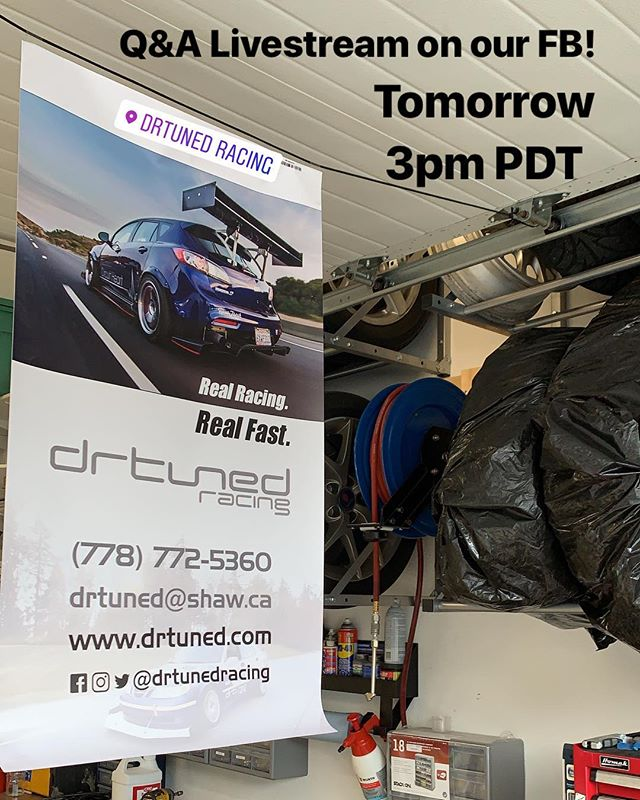Alright, let's do this again! Q&A will be LIVE on our Facebook page tomorrow, April 30th, at 3pm PDT (6pm EDT). Ask anything about the Saab Time Attack car, Mazda Tuning, Race car setups, and pretty much anything else you can think of to ask! Also be sure to check out our Instagram story to submit some questions to ensure they get answered as well! See you tomorrow!