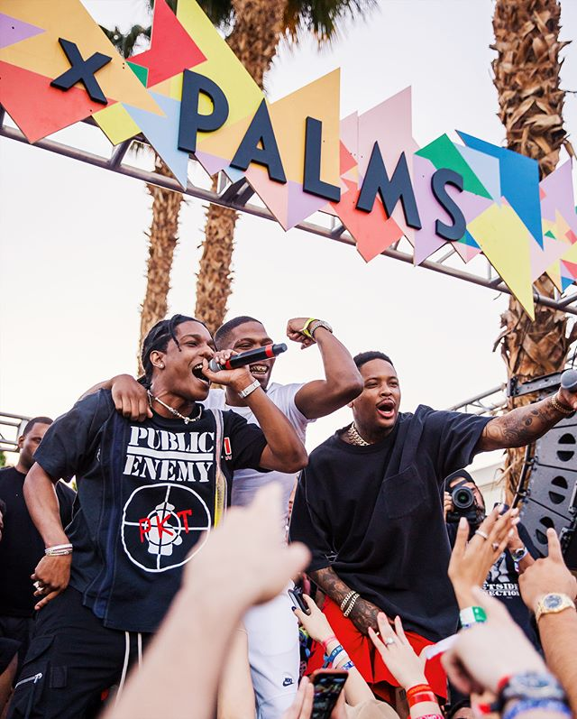 BAD COMPANY, THAT'S BAD FOR YOUR COMPANY // @asaprocky x @blocboy_jb x @yg at #RevolveFestival // 📸: #DerreckStanley