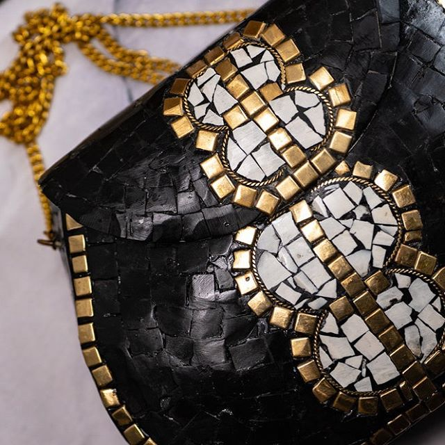 The Eclipse Purse-Midi is a long awaited black and white piece ready to be a cult classic.  With a pure brass base, each black and white stone is strategically placed aroundl gold detailing to create a homogenous canvas--separate but together all at the same time.  Check our stories for our Summer Flash Sale-you don't want to miss this one.