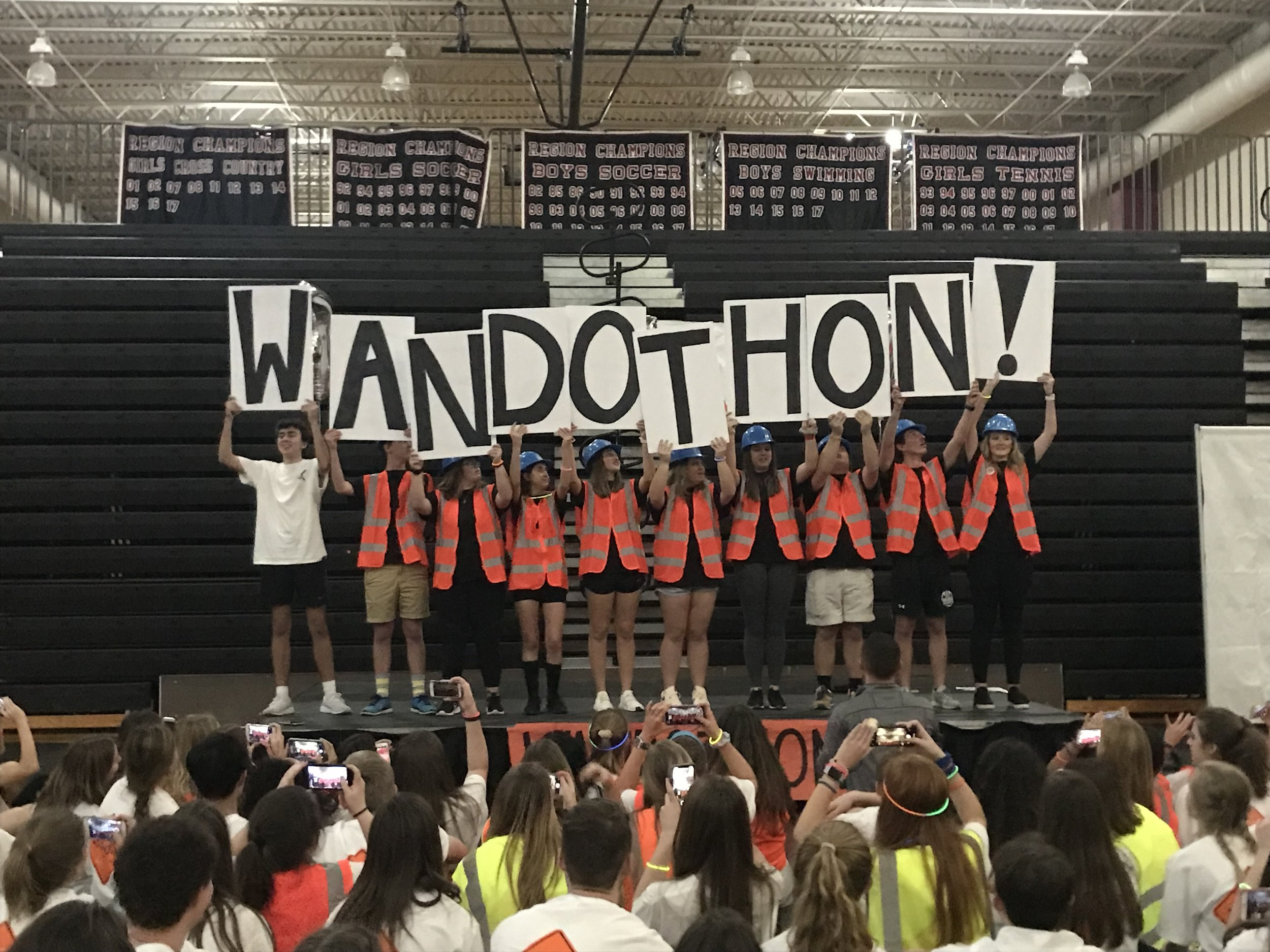 WANDOTHON - Wando High School hosted their second annual Wandothon on February 2, 2019. We are so proud of all of their efforts to fundraise for the kids at MUSC Children's Hospital!