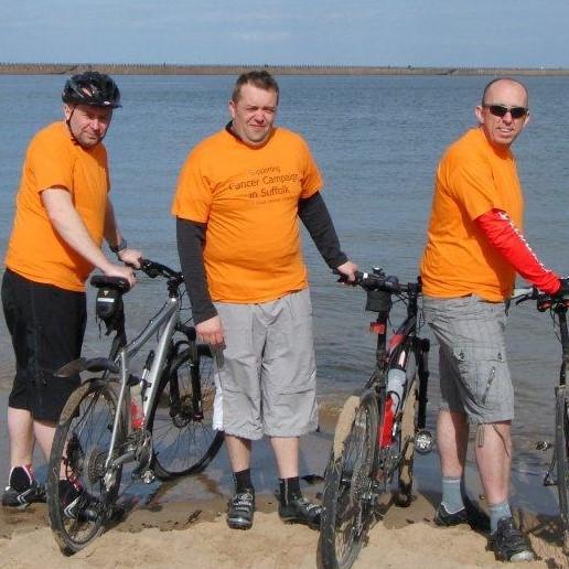 G E Aviation bike ride across Suffolk