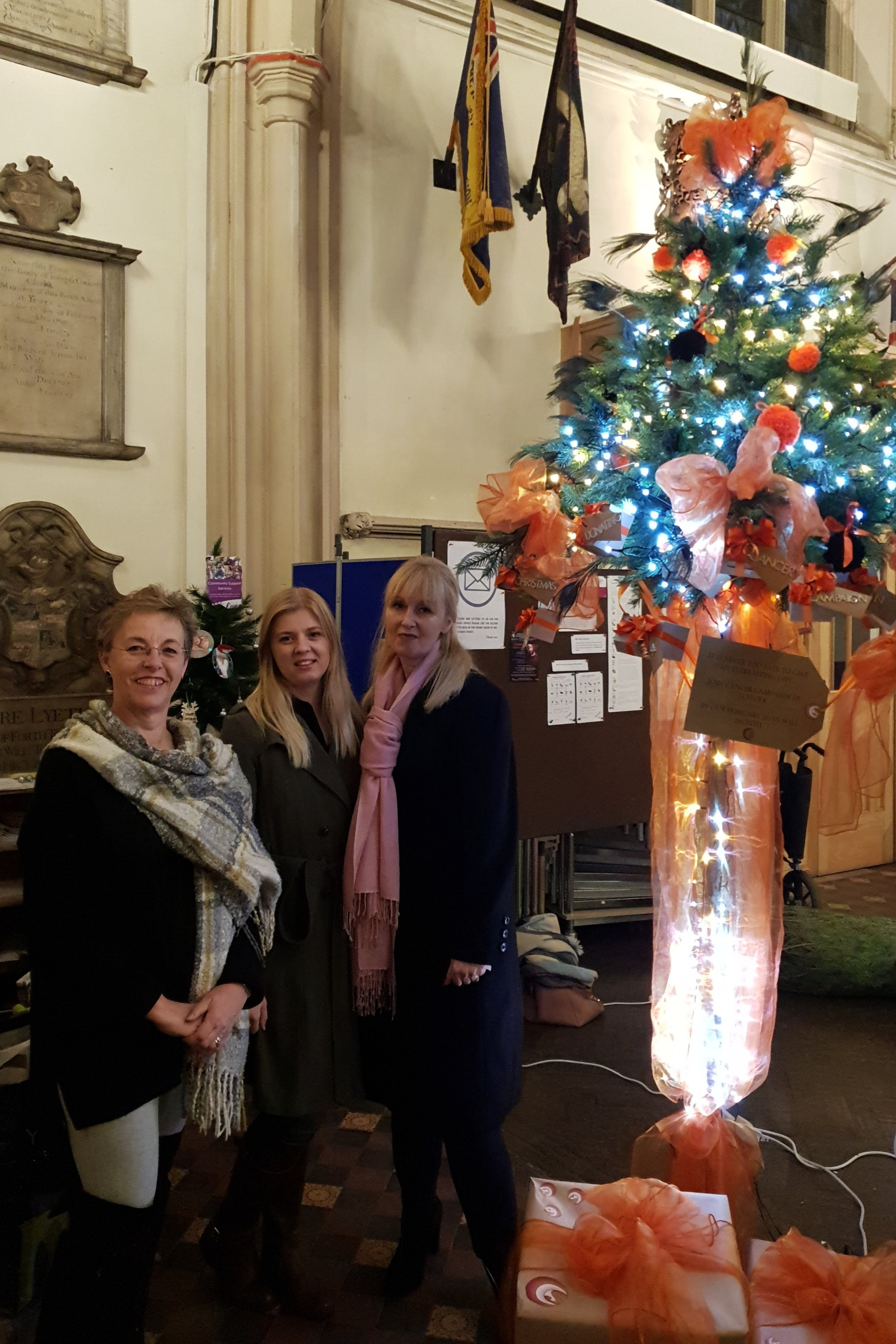 Left to Right Karen Hare Cheif Executive, Alice Stebbings, Fundraiser, Sarah Manton, Educator