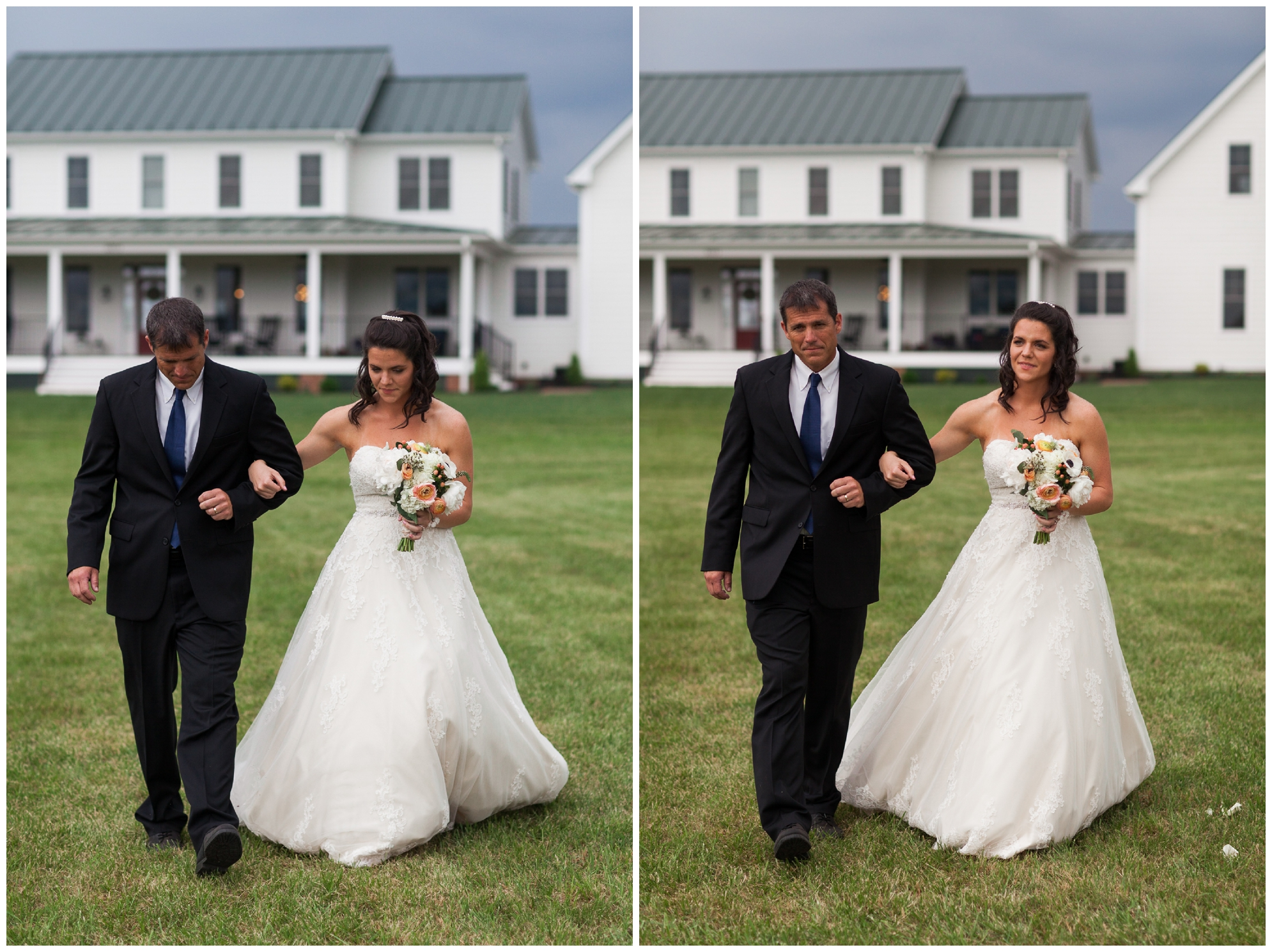 Mountaintop wedding in late spring in the Shenandoah Valley Blue Ridge Mountains.