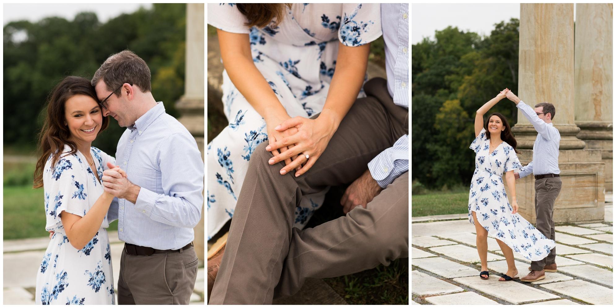Washington DC fall engagement session at the National Arboretum