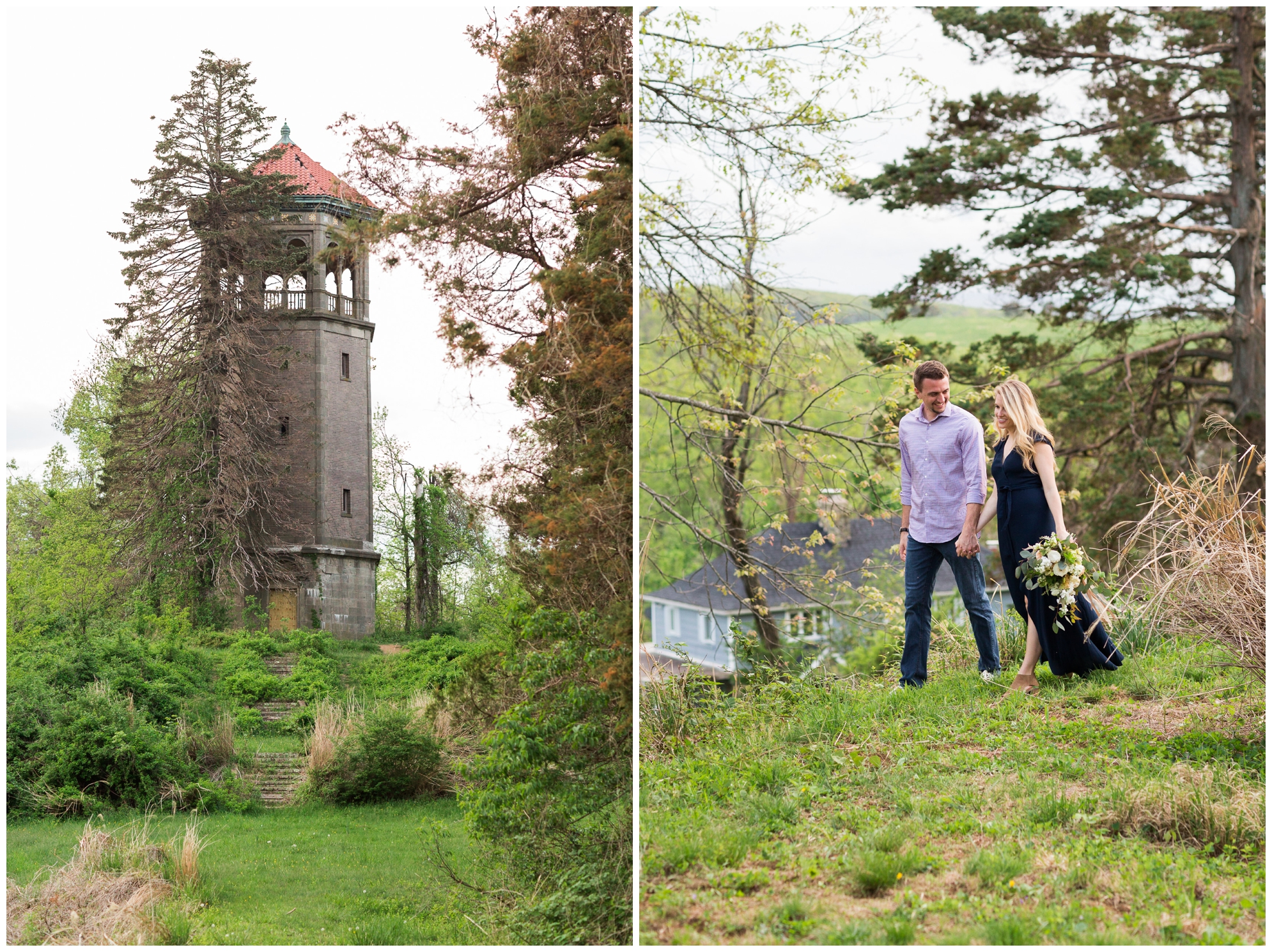 Summer in Virginia engagement session at Swannaona Palace on Afton Mountain