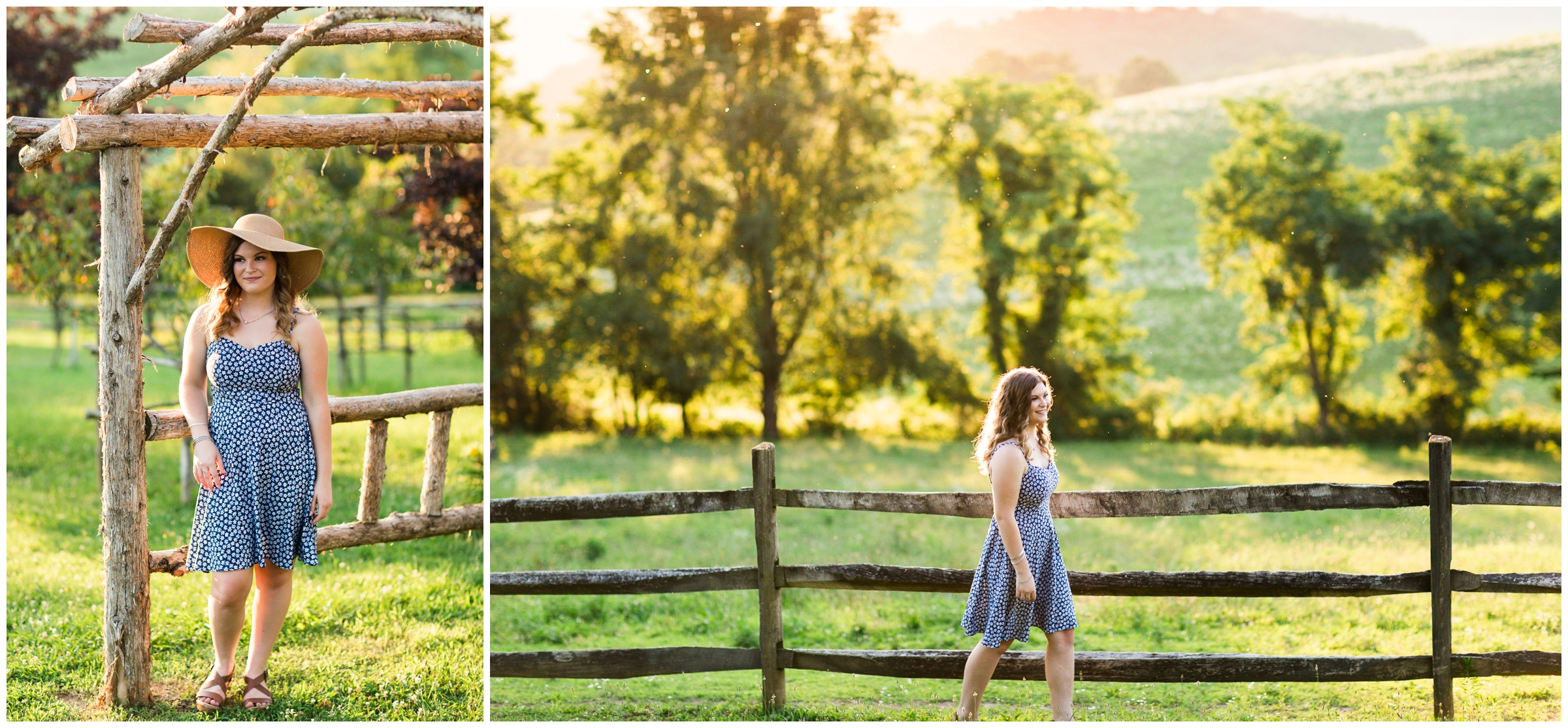 Fort Defiance High School Class of 2020 Senior Session at Tantivy Lavender Farm in Augusta County, Blue Ridge Mountains of Virginia