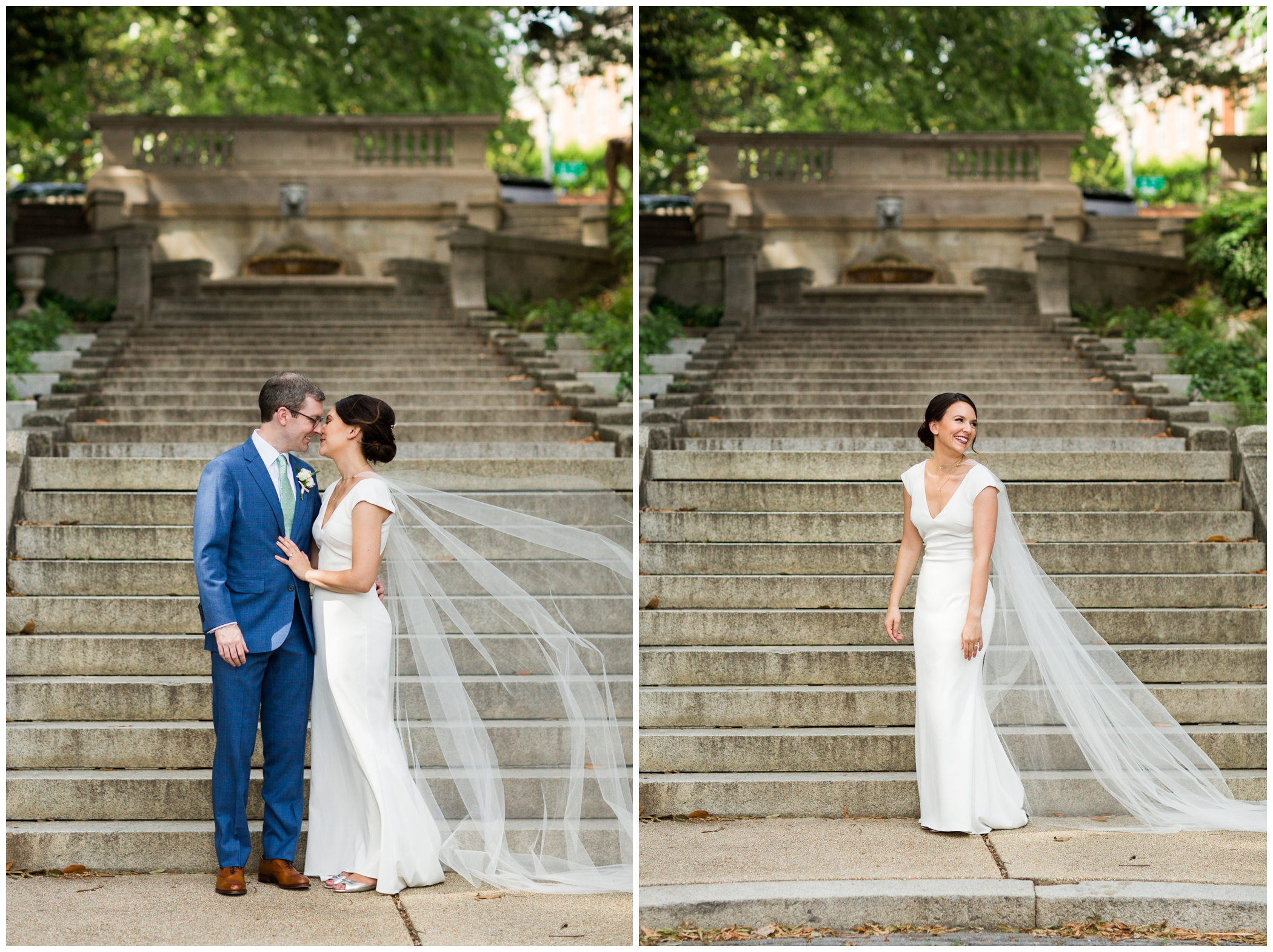 Summer Washington DC wedding at the Toolbox Pilates Art Studio and the Spanish Steps during DC Pride featuring Timber Pizza Co.