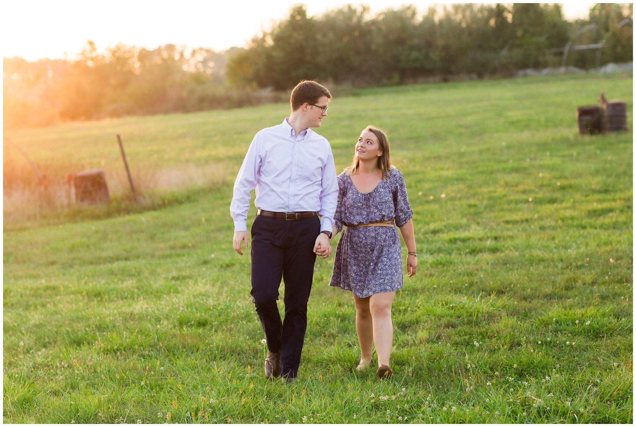 Fall family photos at Andre Viette Nursery in Fishersville VA featuring a german shepherd puppy