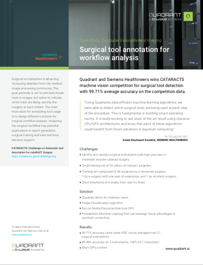 Surgical tool annotation for workflow analysis - Case Study: Computer Vision/Medical Imaging