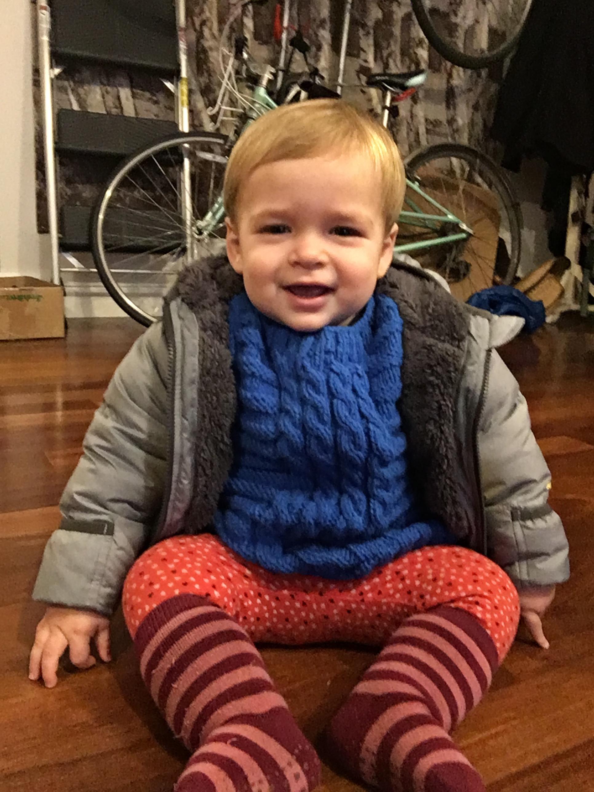 Rowan got his first haircut -