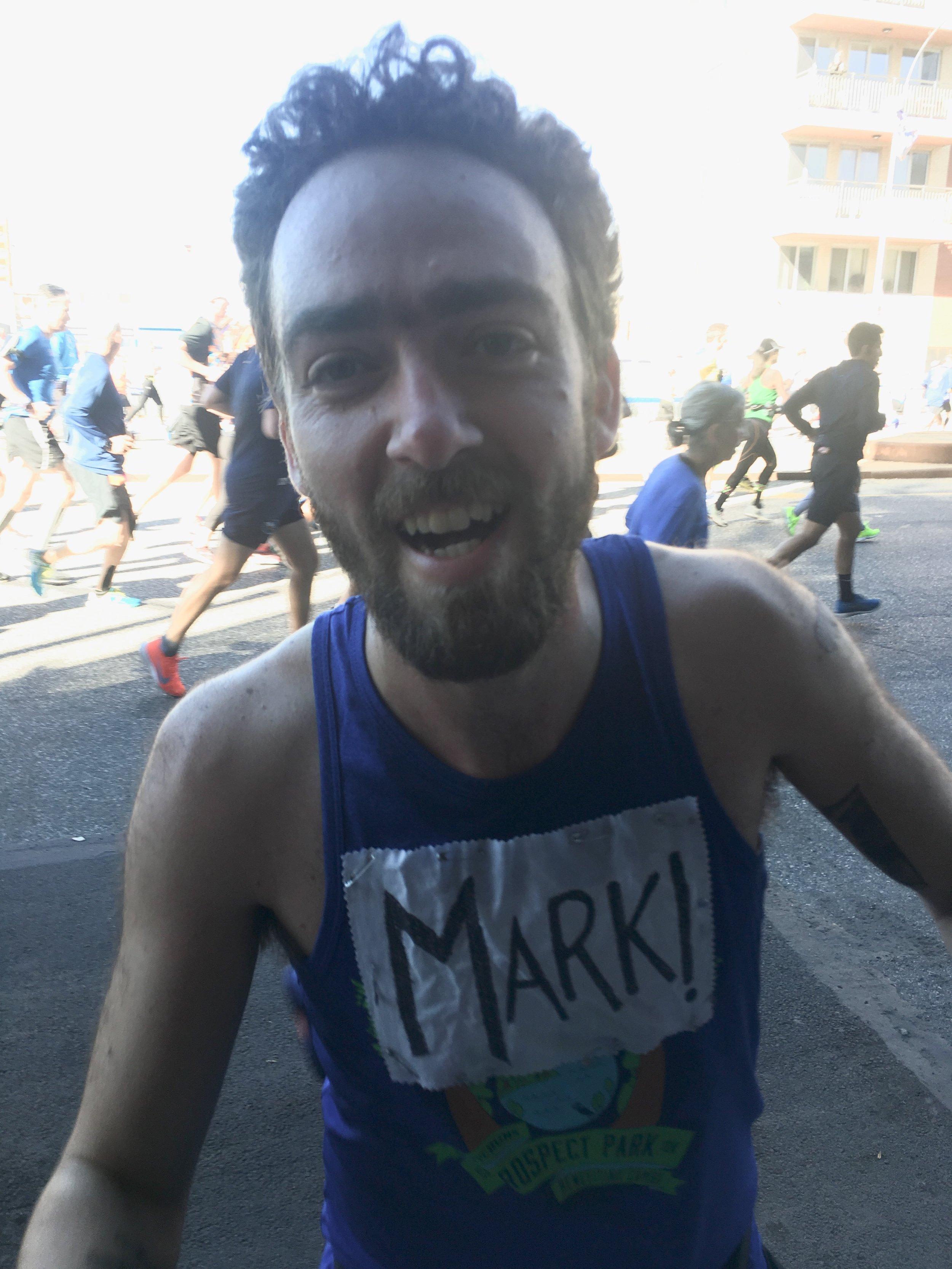 Mark ran the NYC Marathon -
