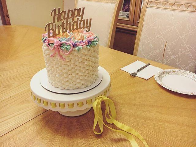 A cute flower basket cake 🌸