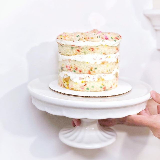 So, this one's not for sale. Just me playing around and spoiling my fiancé. It's the famous @milkbarstore birthday cake by the amazing #pastrychef and #netflix star @christinatosi. Making it was lots of fun and not as difficult as you'd think - but definitely a labor of love. And very delicious 😛 The recipe is up on the Milk Bar website, or you can order one and have it shipped right to your door! @kuhlthing is eating most of this one tho. 💕👌